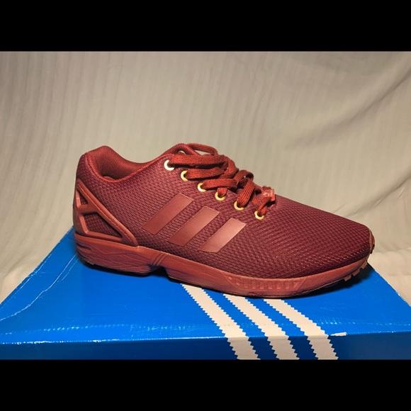dark red adidas shoes